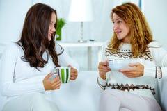 Having tea Royalty Free Stock Images