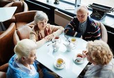 Having tea in cafe Stock Photo