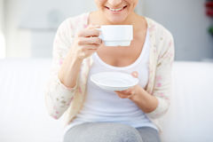 Having tea Stock Images