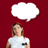 Having a thought balloon Royalty Free Stock Photos