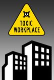 Toxic workplace. Having to work in a toxic workplace Royalty Free Stock Images