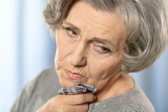 Having tooth pain Stock Image