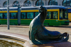 Havis Amanda fontanna w Helsinki i statua, Obrazy Royalty Free