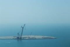 Havkonstruktionsplats Dubai Fotografering för Bildbyråer