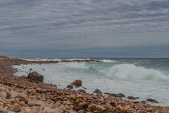 Havkust Fyr av San Pedro de Moel Royaltyfri Foto