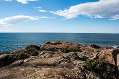 Havkustlinje Australien NSW arkivfoton