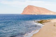 Havkusts medano Tenerife för El för sikt Royaltyfri Foto
