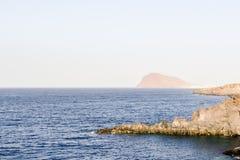 Havkusts medano Tenerife för El för sikt Royaltyfria Bilder