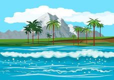 Havlandskap, tropiska öar royaltyfri fotografi