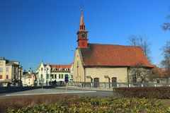 Havlickuv Brod. St. Catarina church in Havlickuv Brod, Czech Republic royalty free stock photography