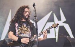 Havok ciężkiego metalu zespół żywy w koncercie 2016 zdjęcia royalty free