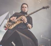 Havok ciężkiego metalu zespół żywy w koncercie 2016 zdjęcia stock