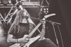 Havok ciężkiego metalu zespół żywy w koncercie 2016 obraz stock