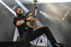 Havok ciężkiego metalu zespół żywy w koncercie 2016 obraz royalty free