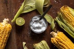 Havre med limefrukt och saltar Arkivfoto
