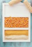 Havre och cornmeal royaltyfria foton