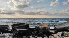Havs- och himmelsikt Arkivbilder