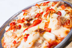 Havs- pizza Arkivfoto