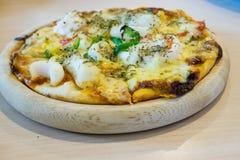 Havs- pizza Fotografering för Bildbyråer