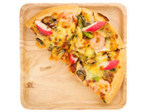 Havs- pizza på vit isolerad bakgrund Royaltyfri Fotografi
