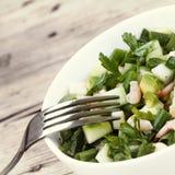 Havs- sallad med avokadot royaltyfri fotografi