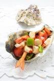 Havs- sallad på vit bakgrund Royaltyfri Fotografi