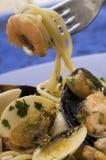 havs- spagetti Arkivbild