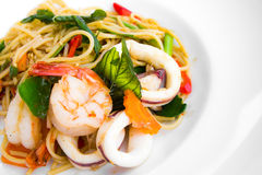 havs- spagetti Royaltyfri Bild