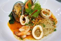 Havs- Tom Yum Noodle Royaltyfri Bild