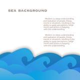Havsbakgrund Arkivbilder