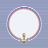 Havsbakgrund och ankare med repet Royaltyfri Fotografi