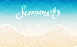 Havsbakgrund och idérik design för sommar, materielvektorillustra royaltyfri illustrationer