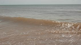 Havsbränning på den Azov kusten, natur stock video