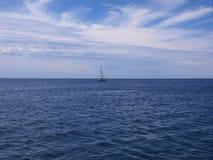 havsegelbåt Royaltyfri Foto