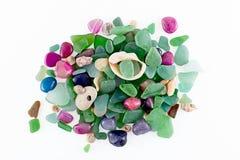 Havsexponeringsglas och stenar Royaltyfri Bild