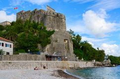 Havsfästning (den forte- stoen), Herceg Novi, Montenegro royaltyfri fotografi