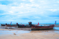 Havsfartyg och himmel Arkivbilder