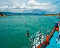 Havsfiske från fartyget, Arkivfoto