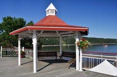 Havsframdel av Tadoussac, Quebec, Kanada Royaltyfria Bilder