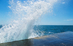 Havsfärgstänkbakgrund Royaltyfria Bilder