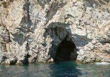 Havsgrotta i Turkiet Arkivbilder
