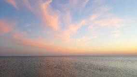 Havshorisonten efter en nedgång fotografering för bildbyråer