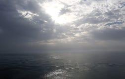 Havsikt för en yacht Fotografering för Bildbyråer