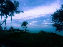 Havsikt från Cancun Mexico arkivbild