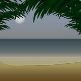 Havsikt från kusten Arkivfoton