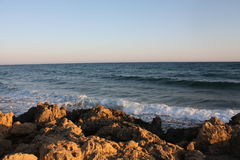 Havsikt i Cypern Ayia Napa Arkivbild