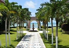 Havsikt i San Pedro, Belize Fotografering för Bildbyråer