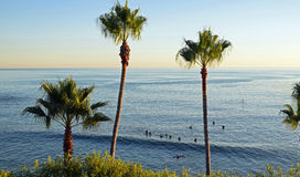 Havsikten nedanför Heisler parkerar Laguna Beach, Kalifornien Fotografering för Bildbyråer