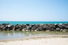 Havsklippa Fotografering för Bildbyråer