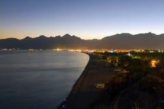 Havskust av Antalya, Turkiet Fotografering för Bildbyråer